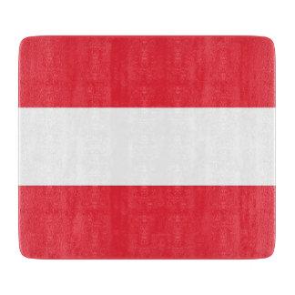 Kleines Glasschneidenbrett mit Flagge von Schneidebrett