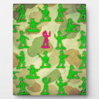 Kleines grünes Armee-Einhorn Fotoplatte