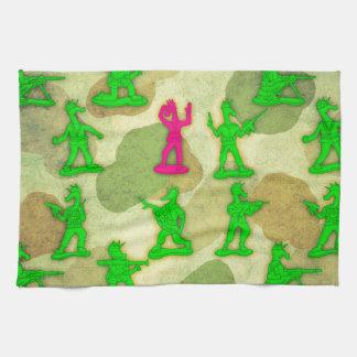 Kleines grünes Armee-Einhorn Küchentuch
