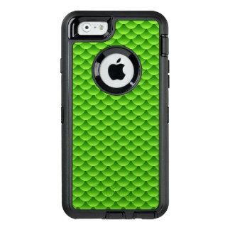 Kleines grünes Fisch-Skala-Muster OtterBox iPhone 6/6s Hülle