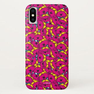 Kleines helles rosa Muster Fräulein-Chatterbox   iPhone X Hülle