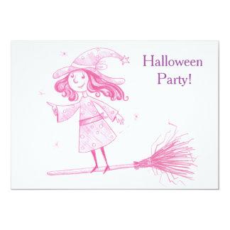 Kleines HEXE Halloween-Party laden ein Karte