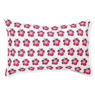 Kleines Hibiskus-Muster-tropisches Hundebett Haustierbett
