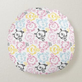 Kleines hübsches Pastell-Muster Rundes Kissen