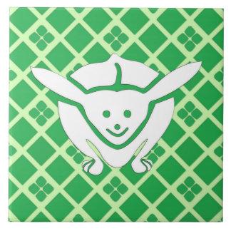 Kleines japanisches Kaninchen, grün Fliese