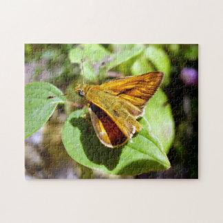 Kleines Kapitän-Schmetterlings-Foto-Puzzlespiel Puzzle