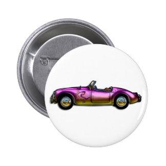 kleines klassisches Sportauto Runder Button 5,7 Cm
