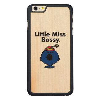 Kleines kleines Fräulein Bossy Fräulein-| ist so Carved® Maple iPhone 6 Plus Hülle