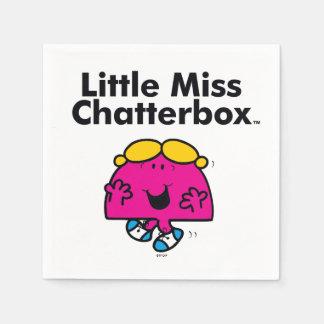 Kleines kleines Fräulein Chatterbox Fräulein-| ist Serviette