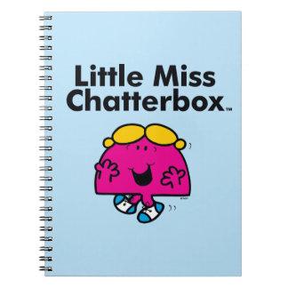 Kleines kleines Fräulein Chatterbox Fräulein-| ist Spiral Notizblock
