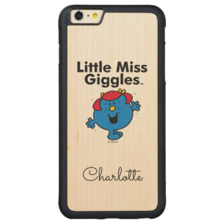 Kleines kleines Fräulein Giggles Likes To Laugh Carved® Maple iPhone 6 Plus Bumper Hülle