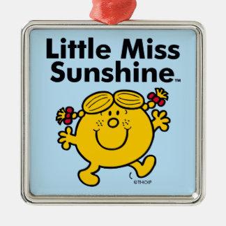 Kleines kleines Fräulein Sunshine Fräulein-  ist Silbernes Ornament