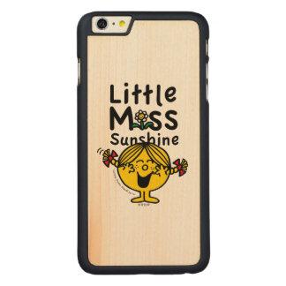 Kleines kleines Fräulein Sunshine Laughs Carved® Maple iPhone 6 Plus Hülle