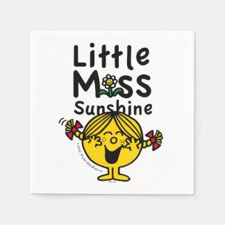 Kleines kleines Fräulein Sunshine Laughs Papierserviette