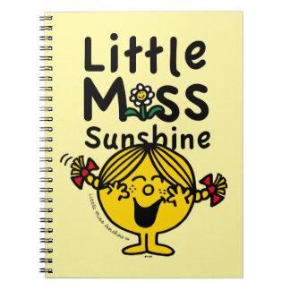 Kleines kleines Fräulein Sunshine Laughs Spiral Notizblock