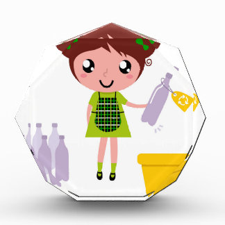 Kleines künstlerisches Mädchen mit Flasche Acryl Auszeichnung