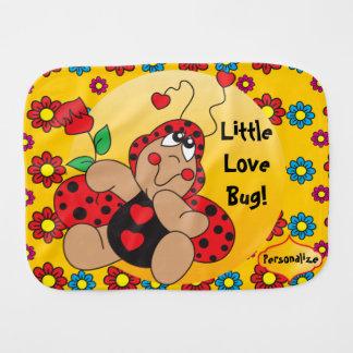 Kleines Liebe-Wanzen-Kinderzimmer-Thema Baby Spucktuch