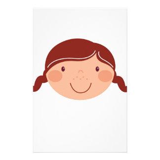 Kleines Mädchen auf Weiß Briefpapier