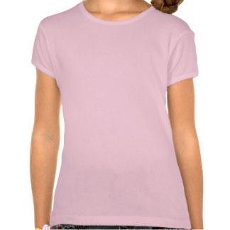 Kleines Mädchen in Paris mit Pudel-Shirt für ein T-shirt