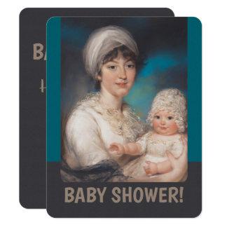 Kleines Mädchen und Mutter CC0981 Babyparty laden Karte