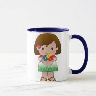 Kleines mexikanisches Mädchen Tasse