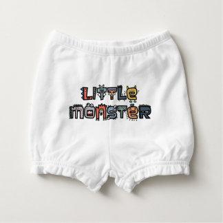 Kleines Monster - Text kritzelt (Pastell) Baby-Windelhöschen
