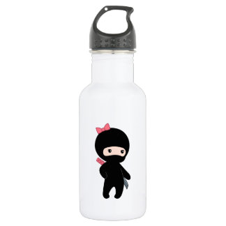 Kleines Ninja Mädchen Edelstahlflasche
