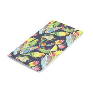 Kleines Papageien-Muster Taschennotizbuch