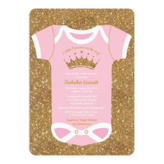 Kleines Rosa Prinzessin-Baby u. Karte