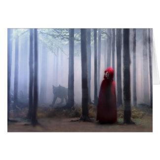 Kleines Rotkäppchen auf Halloween Grußkarten