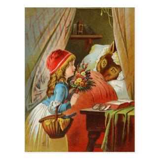 Kleines Rotkäppchen durch Karl Offterdinger Postkarte