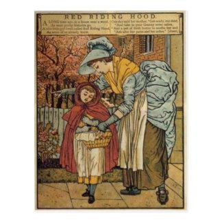 Kleines Rotkäppchen durch Walter-Kran ~ 1845 1915 Postkarte