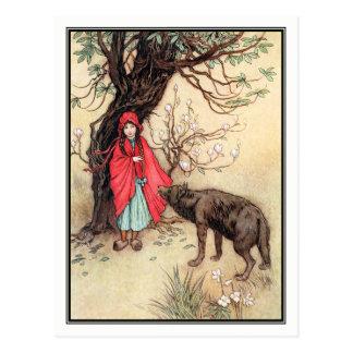 Kleines Rotkäppchen durch Warwick Goble Postkarte