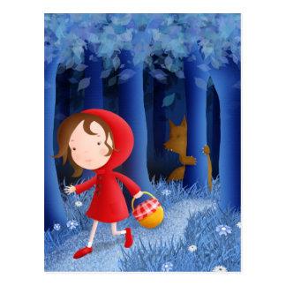 Kleines Rotkäppchen - Postkarte