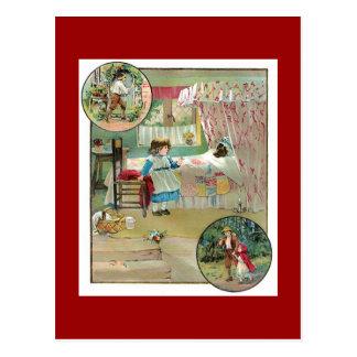 Kleines Rotkäppchen Postkarte