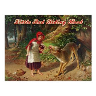 Kleines Rotkäppchen u. der große schlechte Wolf Postkarte