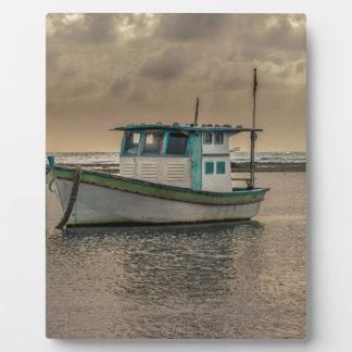 Kleines Schiff in Ozean Porto Galinhas Brasilien Fotoplatte