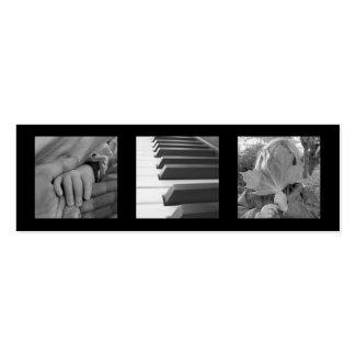 Kleines schwarzes modernes ExtraChic des Fotos 3 o Visitenkartenvorlagen