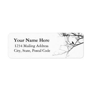 Kleines schwarzes Vogel-Adressen-Etikett