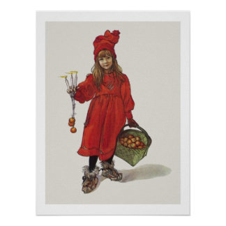 Kleines schwedisches Mädchen Brita Carl Larssons Poster