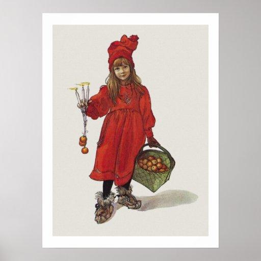 Kleines schwedisches Mädchen Carl Larssons: Brita  Plakatdruck