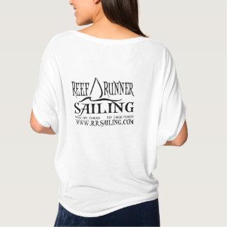 Kleines Segel auf Front mit Website-an Rückseite T-Shirt