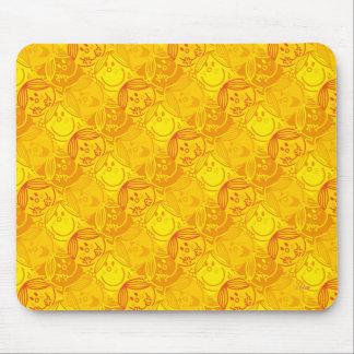 Kleines sonniges gelbes Muster Fräulein-Sunshine | Mauspad