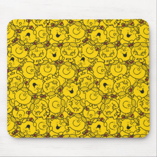 Kleines Spaß-Gelb-Lächeln-Muster Fräulein-Sunshine Mauspads