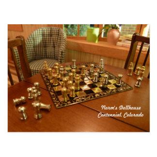 Kleines Spiel des Schachs Postkarte