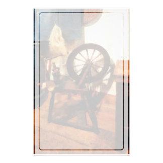 Kleines Spinnrad Briefpapier