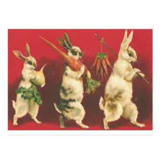 Kleines Stück drei Kaninchen Postkarte