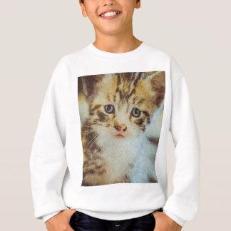 Kleines Tabby-Kätzchen-Schmutz-Porträt Sweatshirt