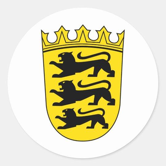 Kleines Wappen von Baden-Württemberg Runder Aufkleber