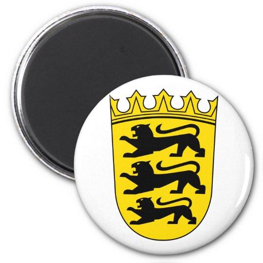 Kleines Wappen von Baden-Württemberg Runder Magnet 5,7 Cm
